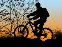 Biker silhouette royalty free stock photos