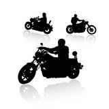 Biker silhouettes collection for your design Stock Photos