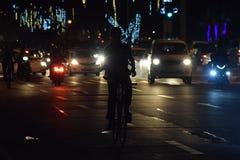 Biker. In Silhoutte Stock Image
