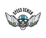 Biker Skull Emblem Stock Photos