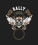 Biker Skull Emblem Royalty Free Stock Image