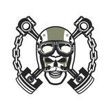 Biker Skull Emblem Stock Photos
