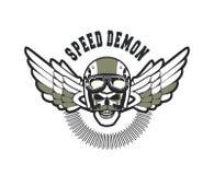 Biker Skull Emblem Royalty Free Stock Images