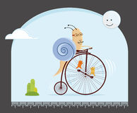 Biker snail Stock Photo