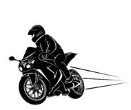 Biker on a sportbike. Vector illustration of a biker on a sportbike Stock Image