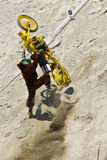 Biker Stunt stock image
