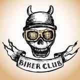 Biker tattoo or emblem Royalty Free Stock Photo