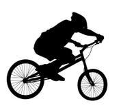Biker vector silhouette Stock Image