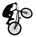 Biker vector silhouette Royalty Free Stock Photography