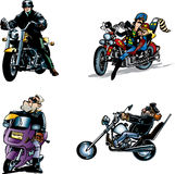 Bikers. This picture have a five bikers on motorcycle Stock Images