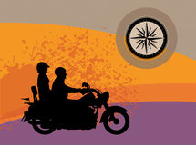 Bikers abstract background. Color illustration Royalty Free Stock Photo