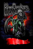 Bikers apparel2. Image illustration a BIKER COMMUNITY for idea PATCH and Tee Shirt, clothing, apparel bikers design Royalty Free Stock Photos