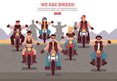 Bikers Background Illustration Royalty Free Stock Photo