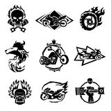 Bikers badges emblems vector icons Stock Image