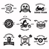 Bikers badges emblems vector icons Royalty Free Stock Image