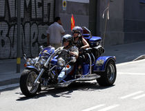 Bikers on Barcelona Harley Days 2013 Royalty Free Stock Photo
