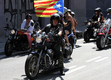 Bikers on Barcelona Harley Days Stock Image