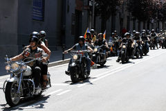 Bikers on Barcelona Harley Days 2013 Stock Photography