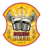 Bikers Beer label Royalty Free Stock Photos