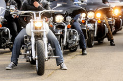 Bikers during Belgrade's Bike Rock Festival Royalty Free Stock Images
