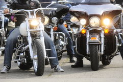 Bikers during Belgrade's Bike Rock Festival Royalty Free Stock Photos