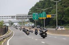 Bikers on Belt Parkway royalty free stock image