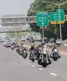 Bikers on Belt Parkway stock photos