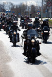 Bikers in city streets Stock Photography