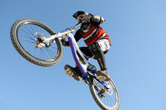 Bikers competition royalty free stock image