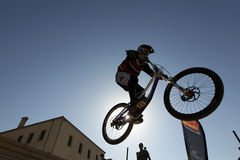 Bikers competition Royalty Free Stock Photos