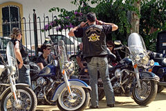 Bikers' concentration 02 Royalty Free Stock Photography