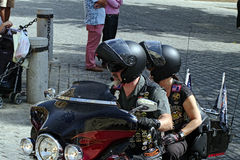 Bikers' concentration 03 Stock Photo