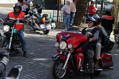 Bikers' concentration 04 Royalty Free Stock Photography