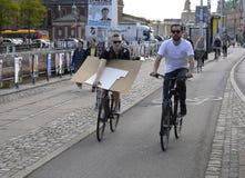 BIKERS IN COPENHAGEN Stock Image