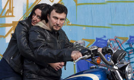 Bikers Couple Stock Images