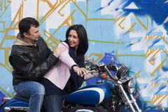 Bikers Couple Royalty Free Stock Images