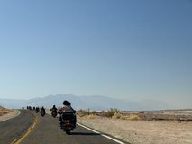 Bikers in the desert Stock Photography