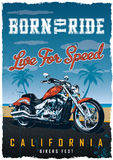 Bikers Fest Poster Stock Photo