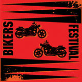 Bikers Festival label Stock Images