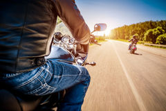 Bikers First-person view Royalty Free Stock Images