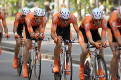 Bikers in the Giro d'Italia 2011 Stock Images