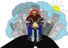 Bikers isolated Stock Images