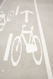 Bikers lane sign Royalty Free Stock Photography