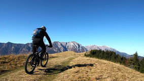 Bikers in the mountains stock video footage