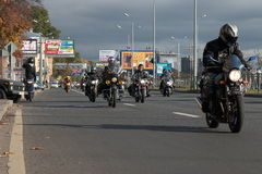 Bikers on the move Royalty Free Stock Photography