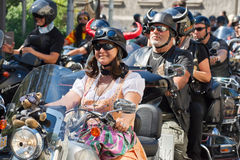 Bikers Parade Royalty Free Stock Photo