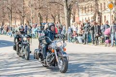 Bikers parade celebrates spring in Sweden Stock Image