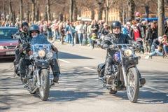 Bikers parade celebrates spring in Sweden Stock Images