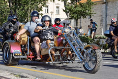Bikers parade Royalty Free Stock Images