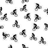 Bikers Pattern Stock Image